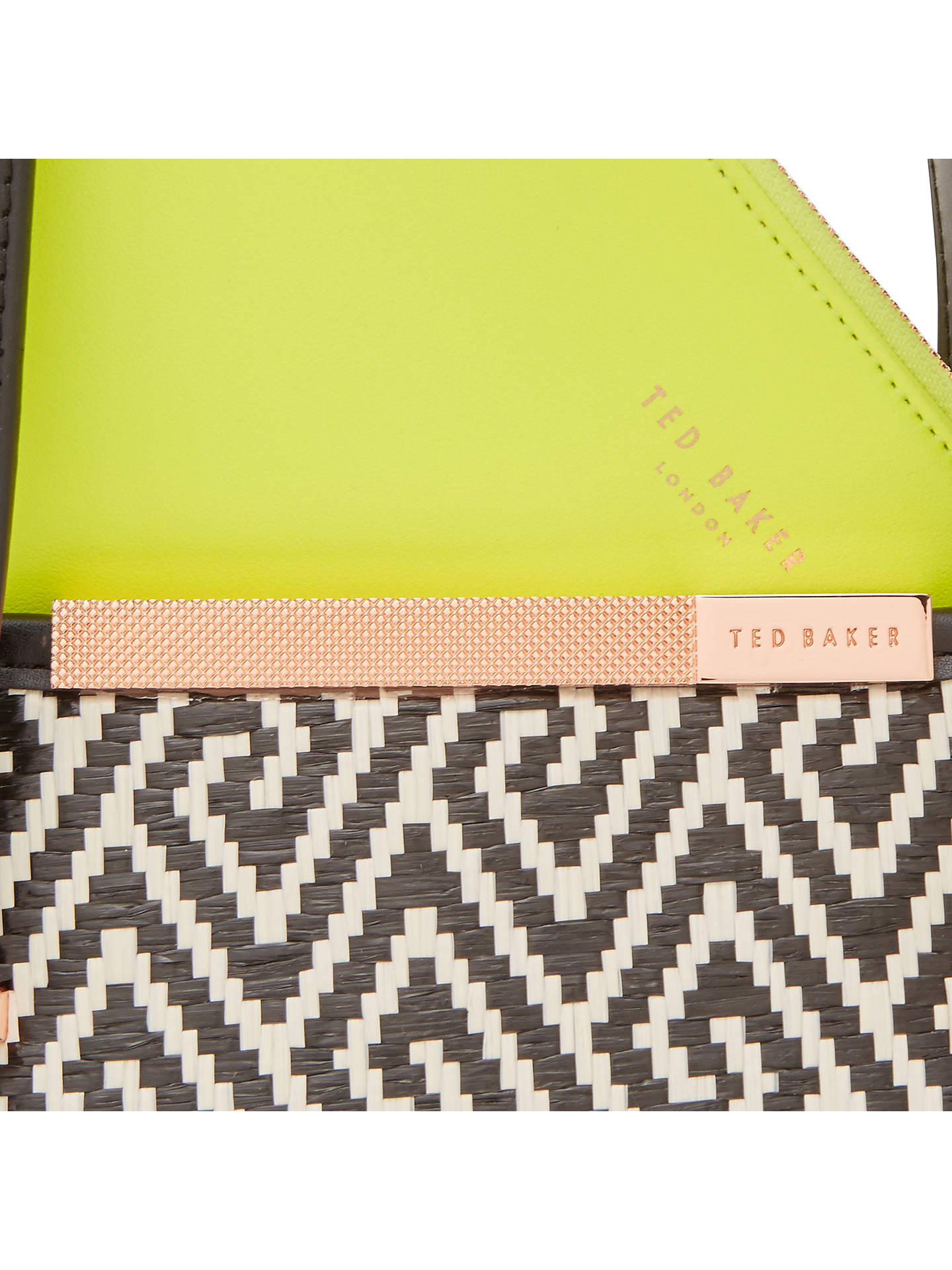 7e48a78f51 ... Buy Ted Baker Natasha Shopper Bag, Black Online at johnlewis.com ...