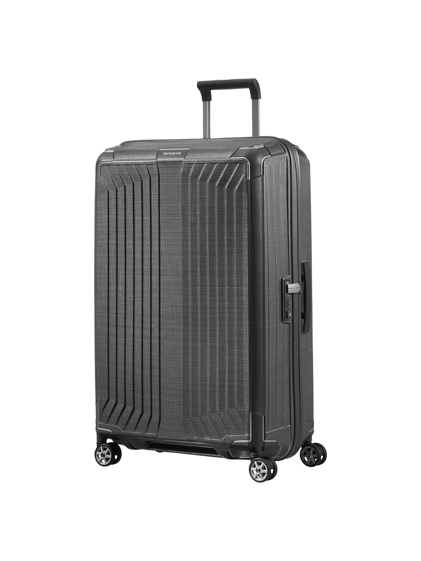 samsonite lite box 75cm 4 spinner wheel suitcase at john. Black Bedroom Furniture Sets. Home Design Ideas