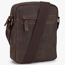 Buy John Lewis Toronto Leather Reporter Bag, Brown Online at johnlewis.com