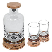 Buy English Pewter Company Glass Mini Decanter Set With Copper Hammered Base, 180ml Online at johnlewis.com