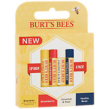 Buy Burt's Bees® Lip Balm 4 Pack Gift Set Online at johnlewis.com