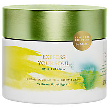Buy Rituals Express Your Soul Clear Your Mind & Body Scrub, 375g Online at johnlewis.com