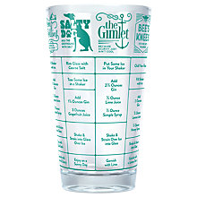 Buy Fred Good Measure Gin Recipe Glass, Clear/Green, 450ml Online at johnlewis.com