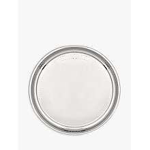 Buy John Lewis Hammered Stainless Steel Round Tray, Silver, Dia.36cm Online at johnlewis.com