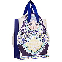 Buy John Lewis Winter Palace Baboushka Shaped Gift Bag Online at johnlewis.com
