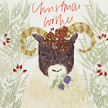 Buy John Lewis Christmas Wishes Ram Charity Christmas Cards, Pack of 6 Online at johnlewis.com