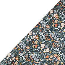 Buy John Lewis Folklore Teal Gift Wrap, W70cm x Roll Length 300cm Online at johnlewis.com