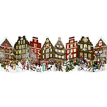Buy Coppenrath Christmas Street Scene Large Fold Out Advent Calendar Online at johnlewis.com