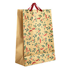 Buy John Lewis Into the Woods Cranberry Gift Bag Large, Gold Online at johnlewis.com