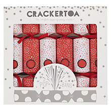 Buy Crackertoa Firework Christmas Crackers, Pack of 6, Red/White Online at johnlewis.com