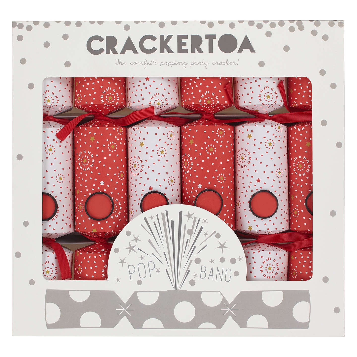 Crackertoa firework christmas crackers pack of 6 redwhite at john buycrackertoa firework christmas crackers pack of 6 redwhite online at johnlewis solutioingenieria Gallery
