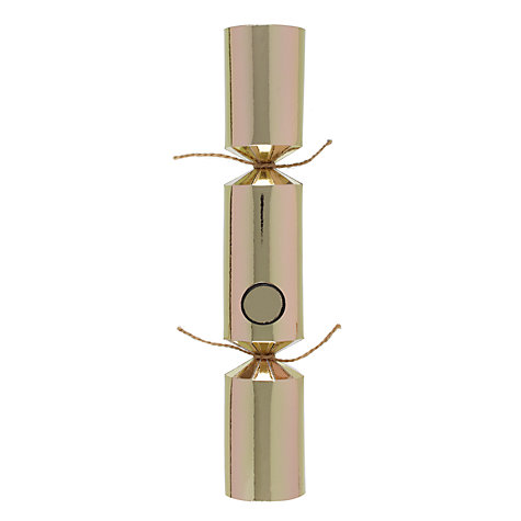 buy crackertoa kraft snowflake christmas crackers pack of 6 rose gold john lewis. Black Bedroom Furniture Sets. Home Design Ideas