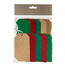 Buy John Lewis Festive Luggage Gift Tag, Pack of 20 Online at johnlewis.com