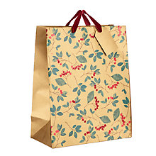 Buy John Lewis Into the Woods Cranberry Gift Bag Medium, Gold Online at johnlewis.com