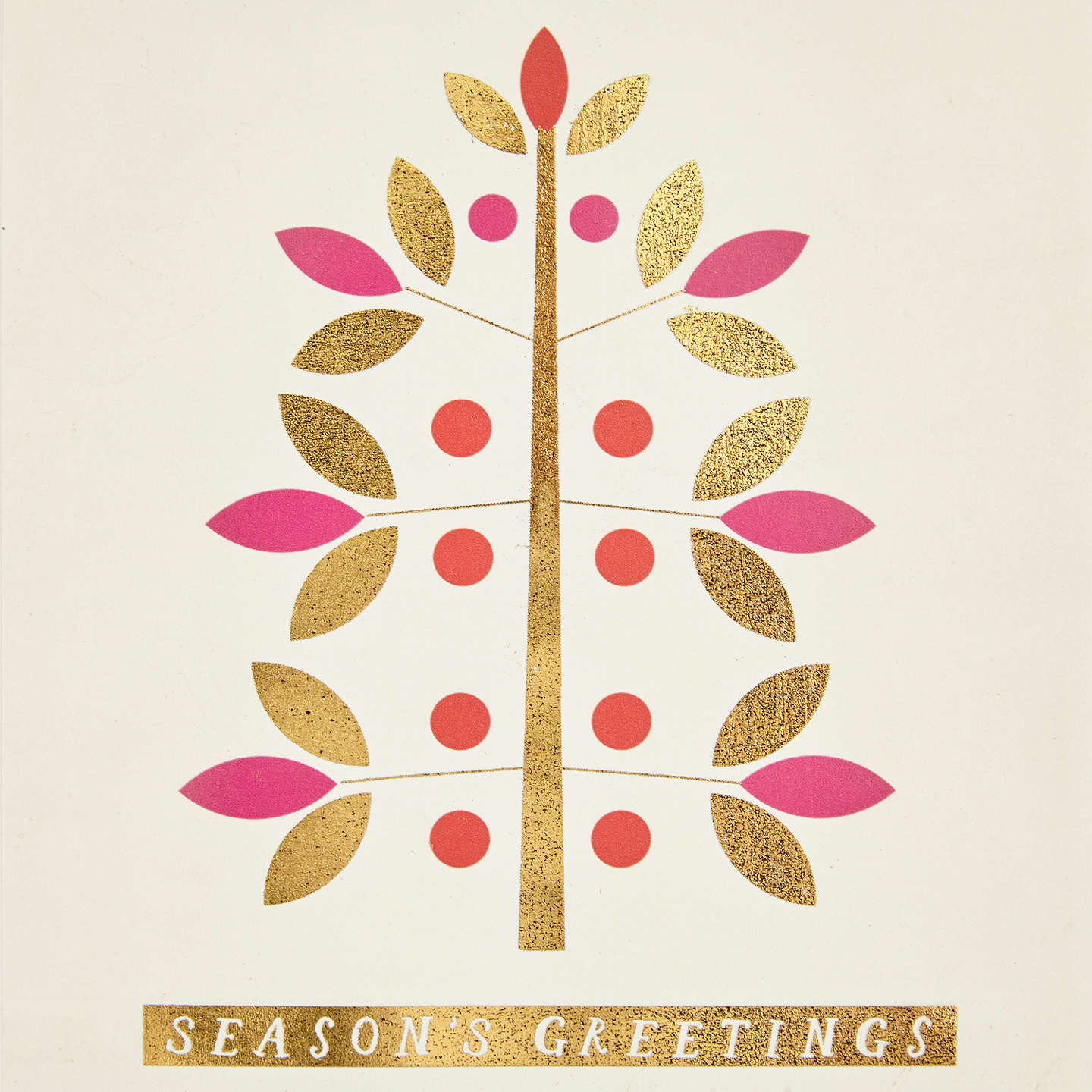 Buyjohn Lewis Abstract Tree Charity Christmas Cards, Pack Of 6
