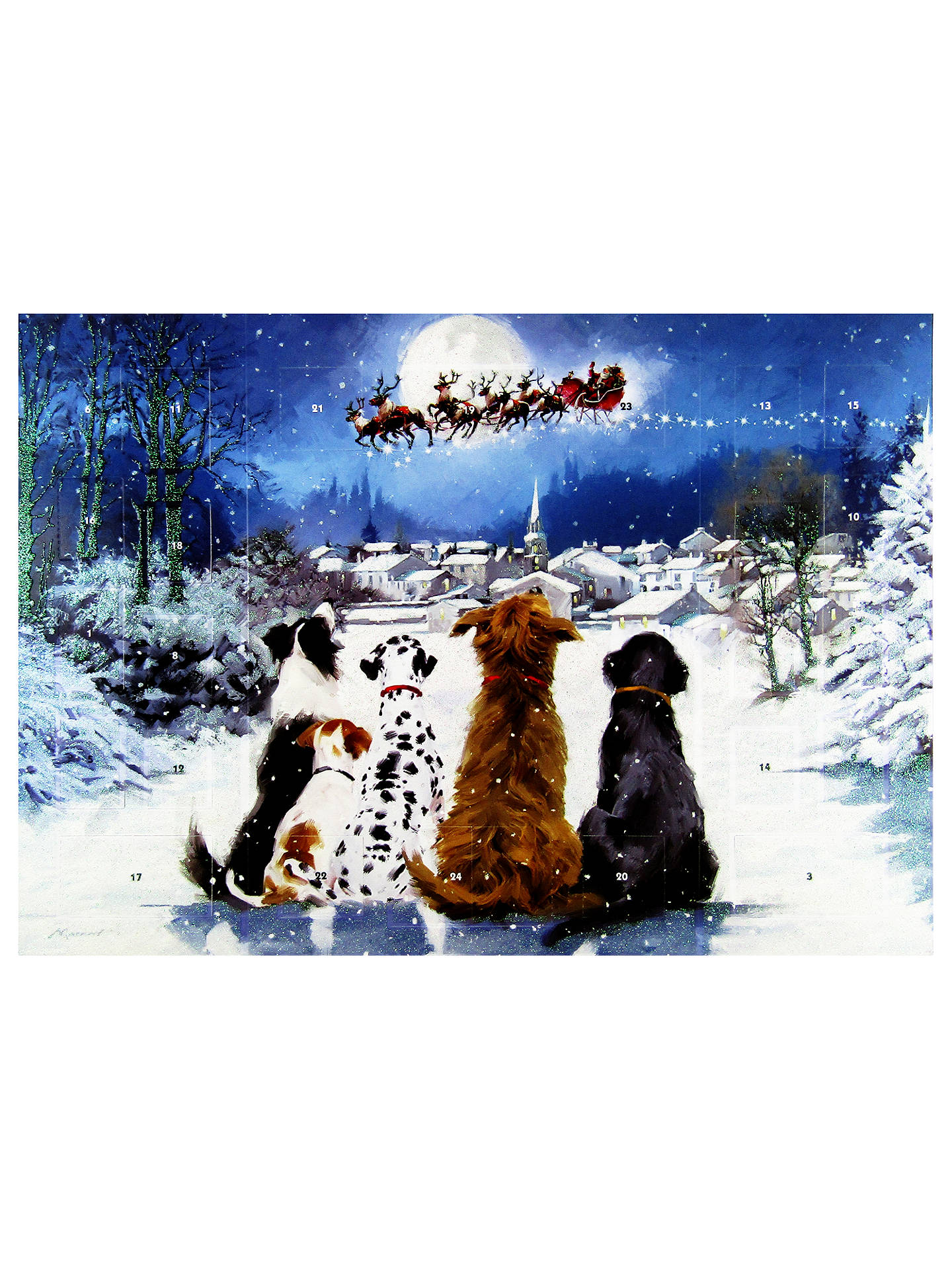 Buy Woodmansterne Dogs and Santa Christmas Medium Advent Calendar Online at johnlewis.com