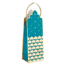 Buy John Lewis Tales of the Maharaja Crown Teal Bottle Gift Bag Online at johnlewis.com