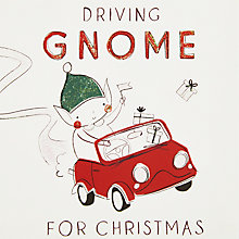 Buy John Lewis Driving Gnome For Christmas Charity Christmas Cards, Pack of 6 Online at johnlewis.com