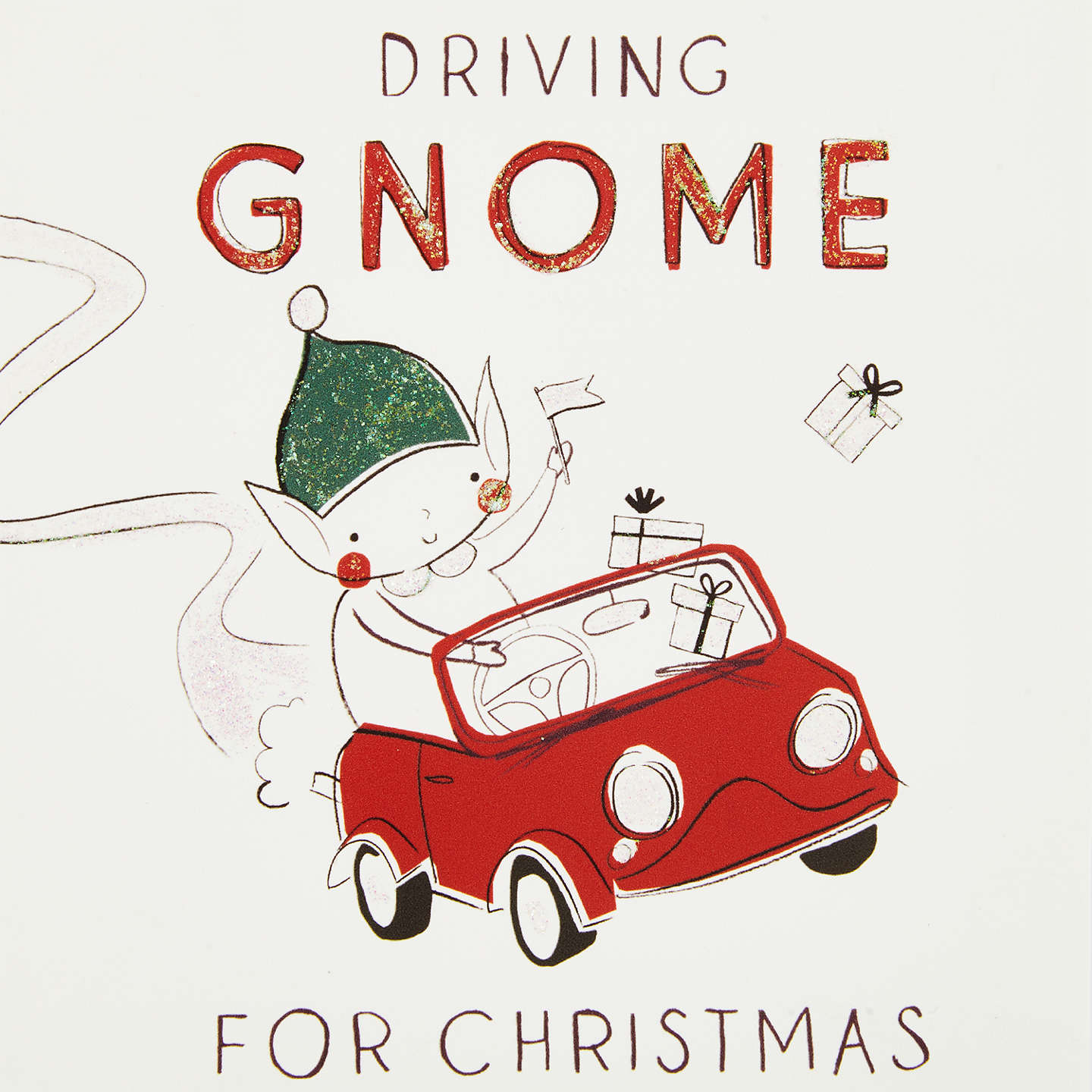 Buyjohn Lewis Driving Gnome For Christmas Charity Christmas Cards, Pack