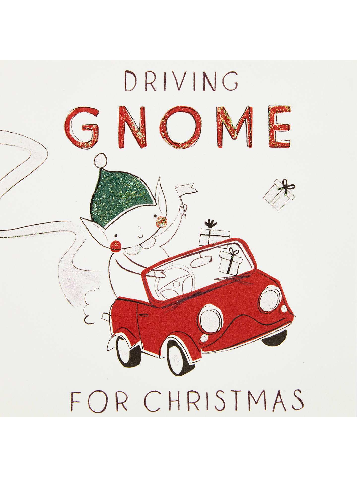 John Lewis Driving Gnome For Christmas Charity Christmas Cards, Pack ...