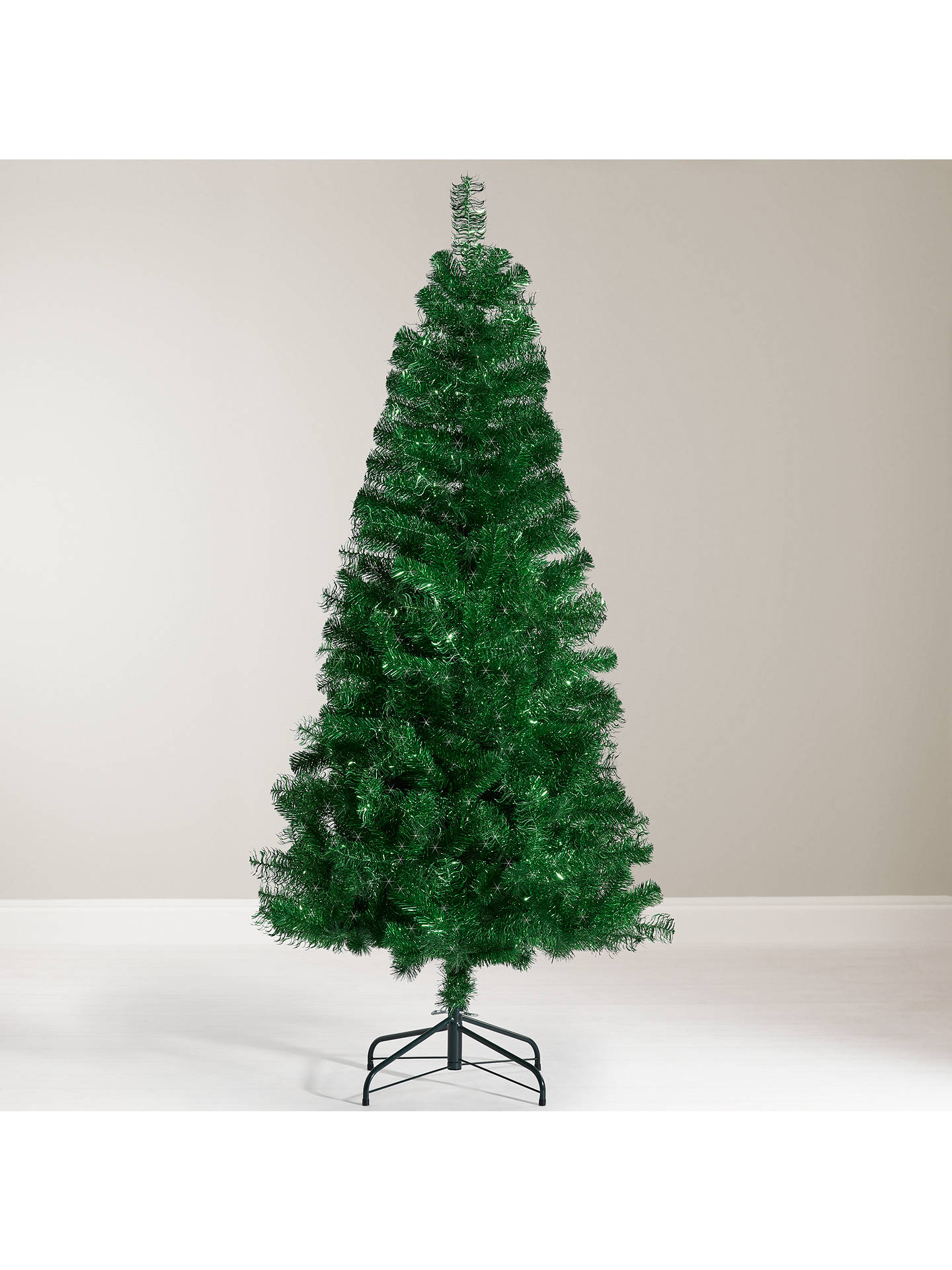 buyjohn lewis tinsel christmas tree 6ft online at johnlewiscom