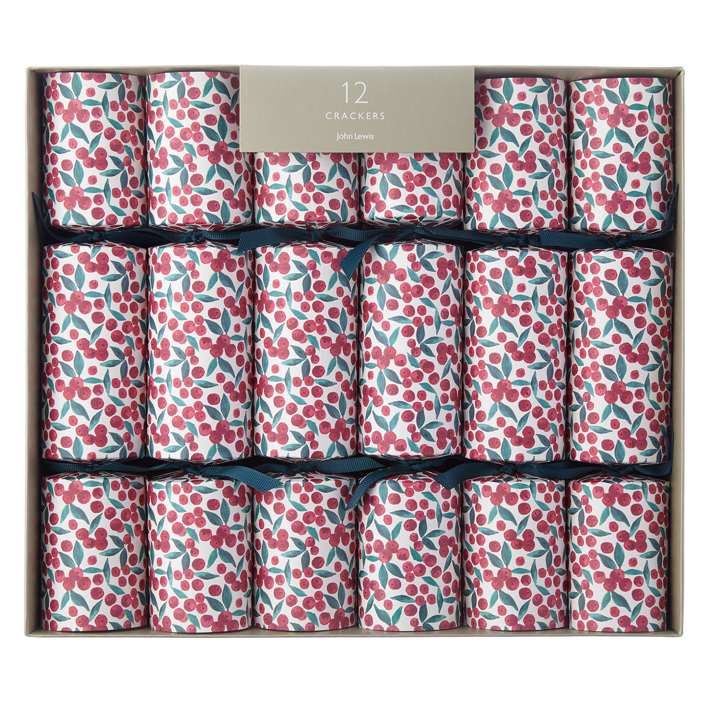 John lewis ditsy berry christmas crackers pack of 12 white at john buyjohn lewis ditsy berry christmas crackers pack of 12 white online at johnlewis solutioingenieria