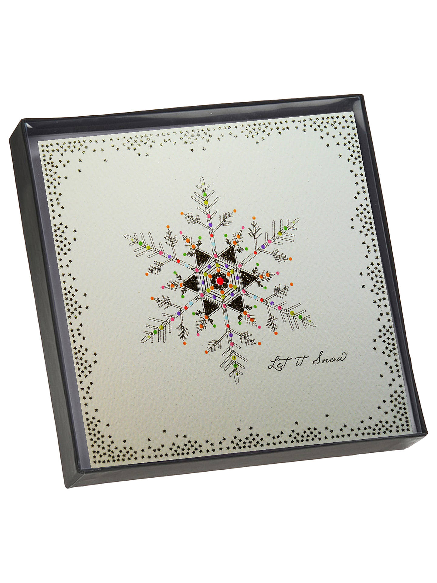 Five Dollar Shake Glitter Snowflake Christmas Cards, Pack of 6 at ...