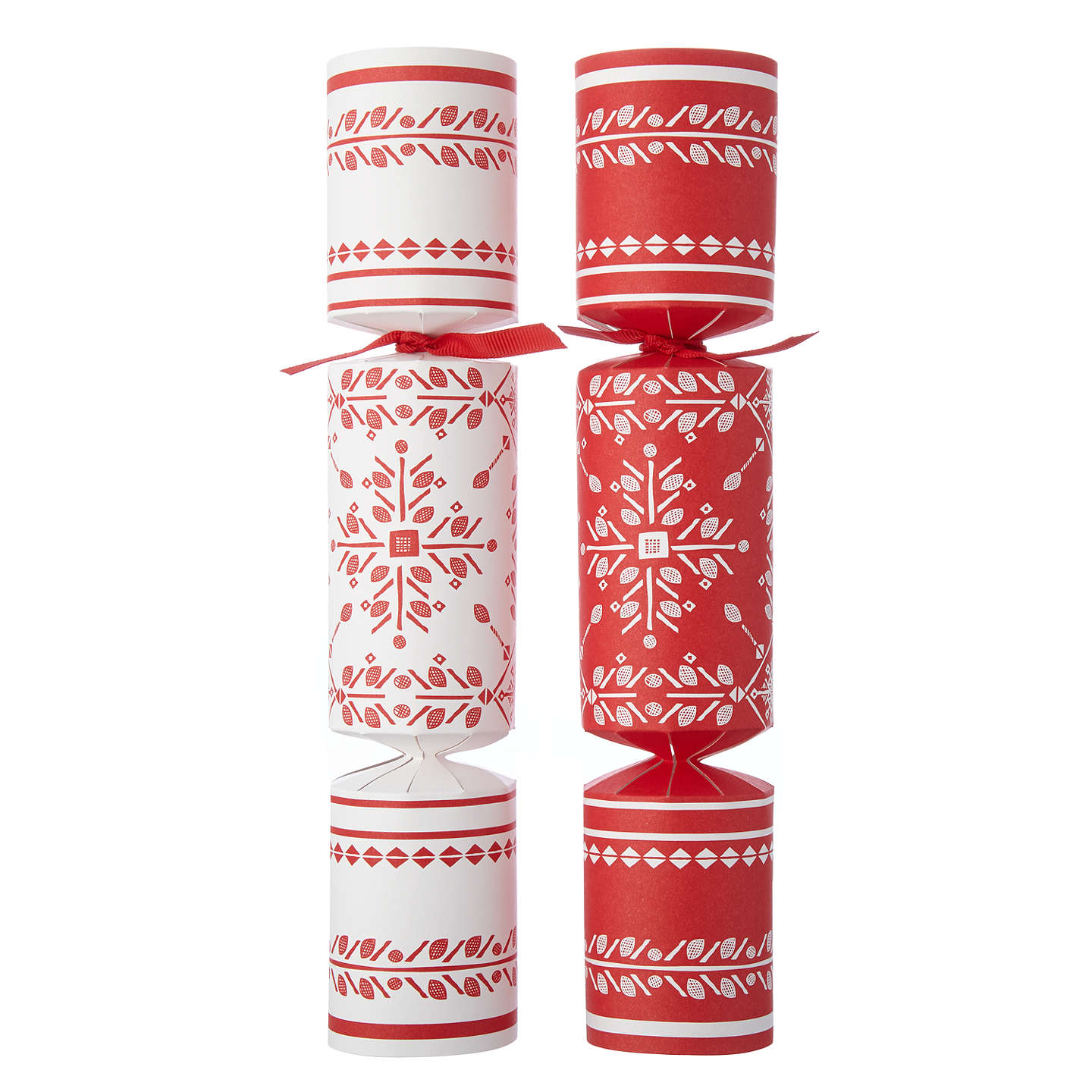 John lewis folklore snowflake fill your own christmas crackers pack buyjohn lewis folklore snowflake fill your own christmas crackers pack of 6 red solutioingenieria Gallery