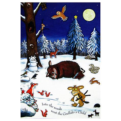 Woodmansterne Gruffalo's Child Christmas Medium Sticker