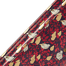 Buy John Lewis Into The Woods Partridge Gift Wrap, 3m Online at johnlewis.com