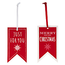 Gift tags christmas gift wrap bags ribbons john lewis buy john lewis just for you gift tags pack of 8 online at johnlewis negle Image collections