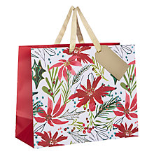 Buy Kelly Ventura Gift Bag, Poinsettia, Medium Online at johnlewis.com