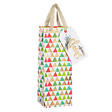 Buy Kelly Ventura Bottle Gift Bag, Triangles, Multi Online at johnlewis.com