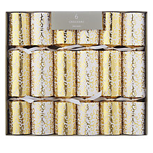 Buy John Lewis Tales of the Maharajah Lace Trail Christmas Crackers, Pack of 6, Gold/White Online at johnlewis.com