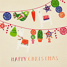 Buy John Lewis Lima Llama Garland Charity Christmas Cards, Pack of 6 Online at johnlewis.com