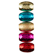 Buy John Lewis Tales of the Maharaja Curling Christmas Ribbons, Pack of 5, L10m, Multi Online at johnlewis.com