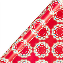 Buy John Lewis Tales of the Maharaja Wreath Red Gift Wrap, W70cm x Roll Length 300cm Online at johnlewis.com