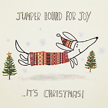 Buy John Lewis Jumper Hound Charity Christmas Cards, Pack of 6 Online at johnlewis.com