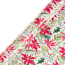 Buy Kelly Ventura Poinsettia Gift Wrap, W70cm x Roll Length 300cm Online at johnlewis.com