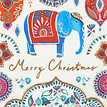 Buy John Lewis Merry Christmas Elephant Charity Christmas Cards, Pack of 6 Online at johnlewis.com