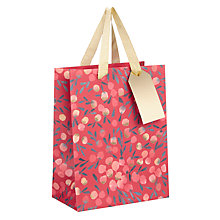 Buy Kelly Ventura Gift Bag, Red Berry, Small Online at johnlewis.com