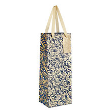 Buy John Lewis Winter Palace Leaves Glitter Bottle Gift Gag, Navy Online at johnlewis.com