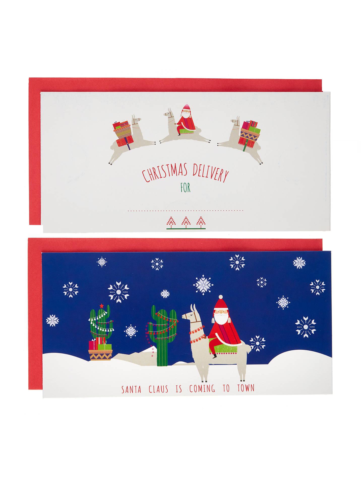 John Lewis Lima Llama Christmas Money Wallet, Pack of 2, W10 x L19 ...
