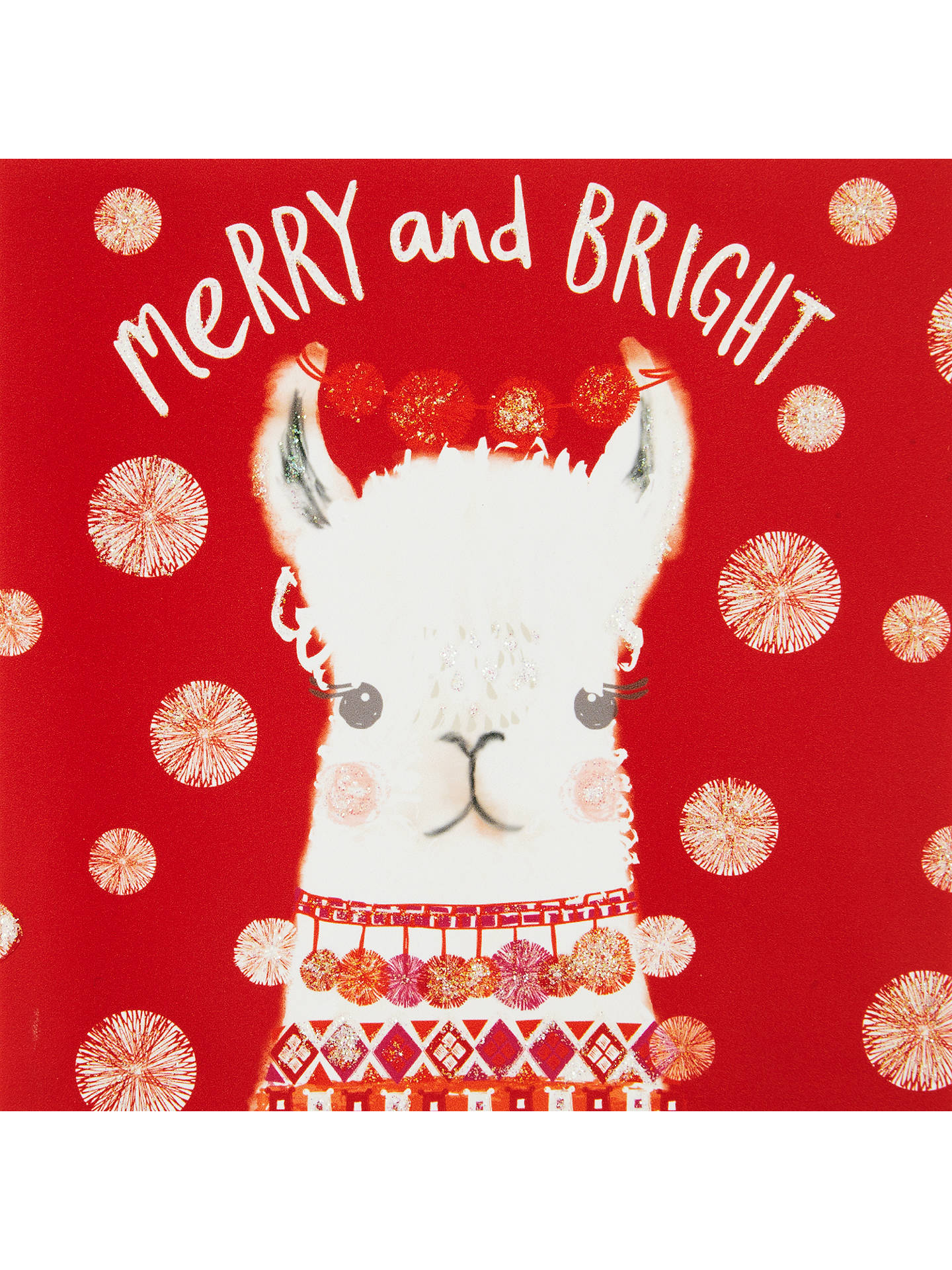 3f11a381493d Buy John Lewis Merry And Bright Llama Charity Christmas Cards