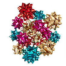Buy John Lewis Tales of the Maharaja Christmas Bows, Pack of 15, Multi Online at johnlewis.com