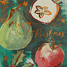 Buy John Lewis Merry Christmas Fruit Charity Christmas Cards, Pack of 6 Online at johnlewis.com