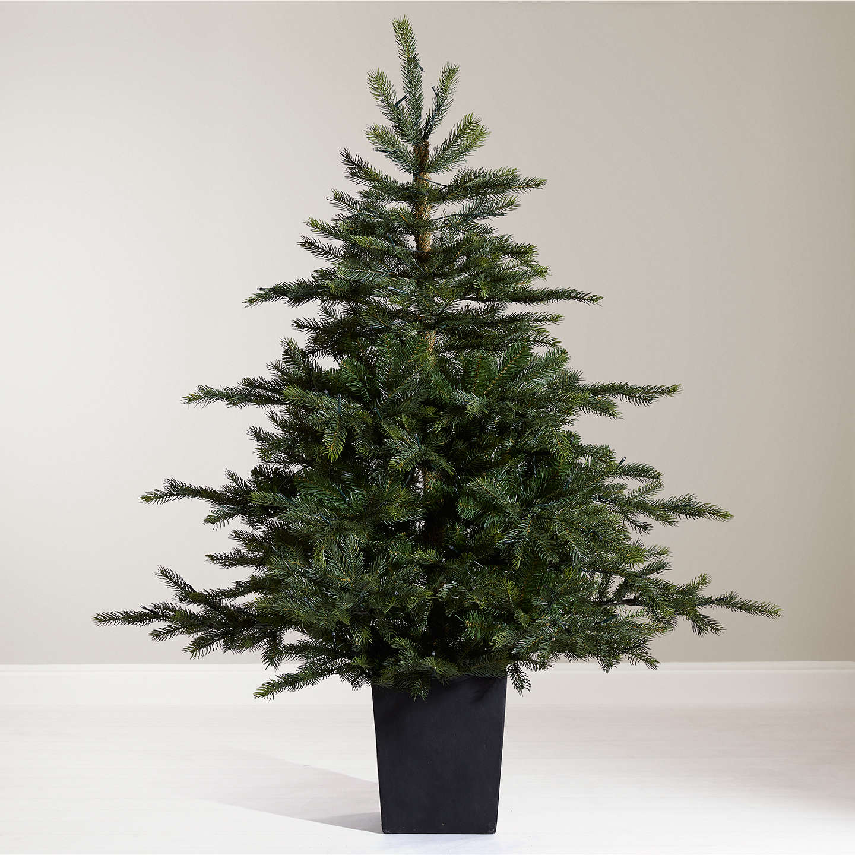 Buyjohn Lewis Isla Emerald Pre Lit Potted Christmas Tree, 45Ft Online