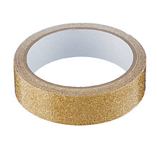 Buy John Lewis Winter Palace Glitter Tape, Gold, 3.5m Online at johnlewis.com