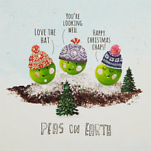 Buy John Lewis Peas On Earth Charity Christmas Cards, Pack of 6 Online at johnlewis.com