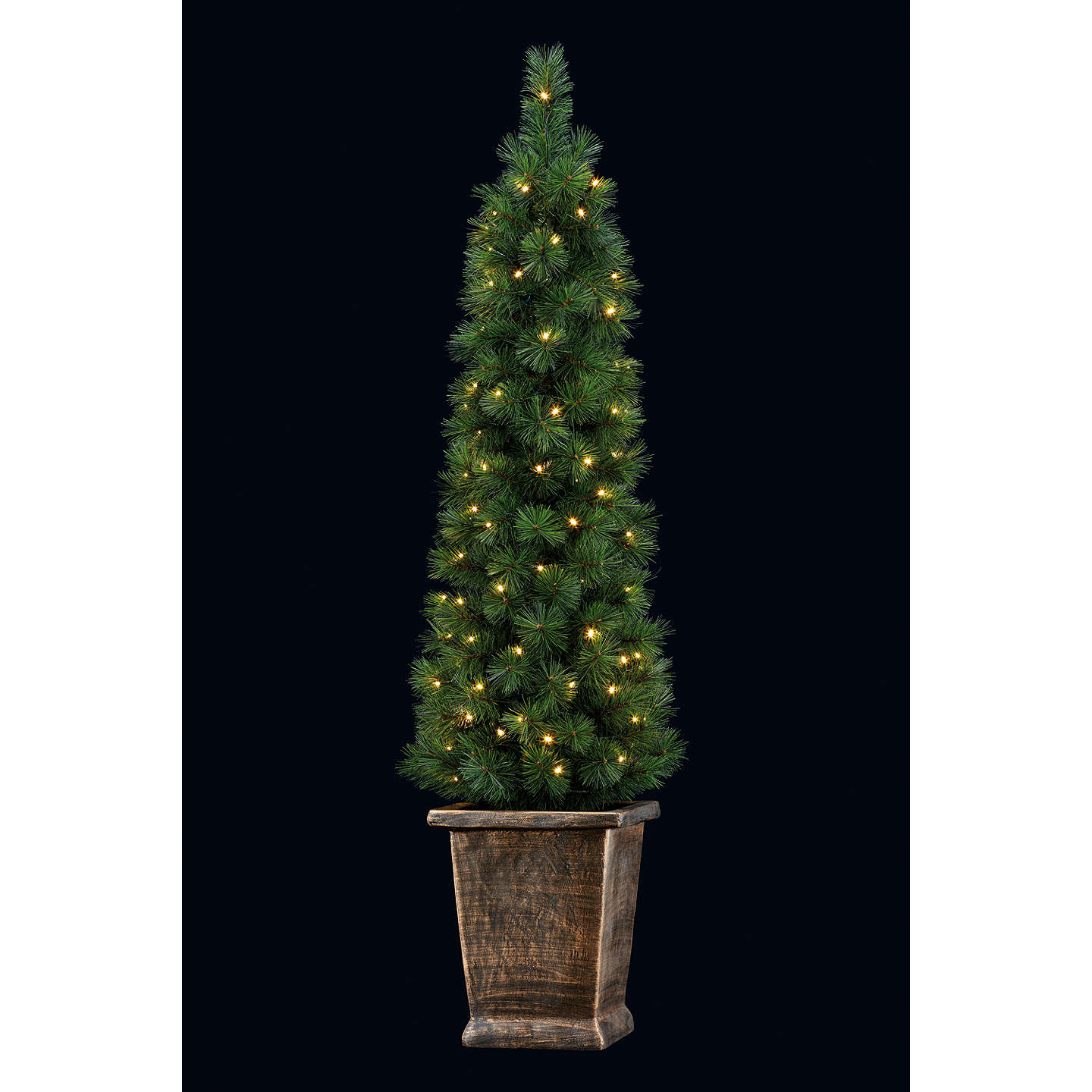 Buyjohn Lewis Pre Lit Pencil Pine Potted Christmas Tree, 5Ft Online